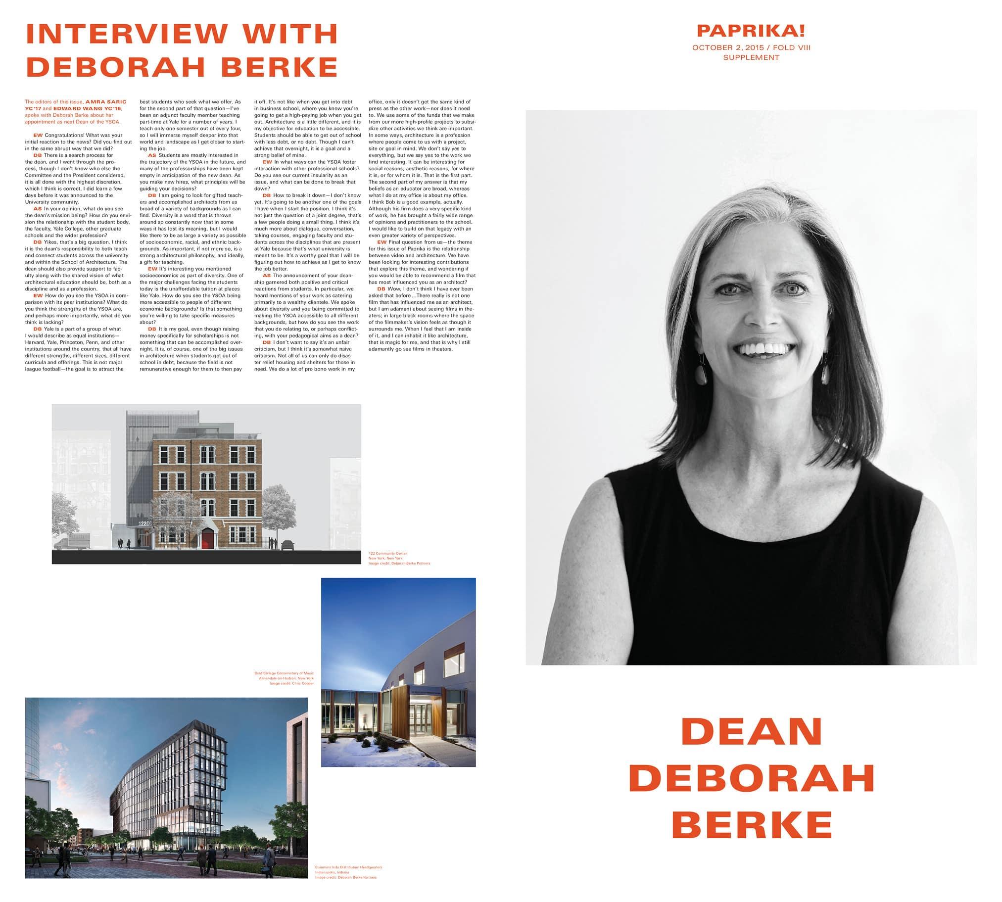 1-B Dean Deborah Berke